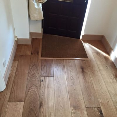Wooden flooring in hallway