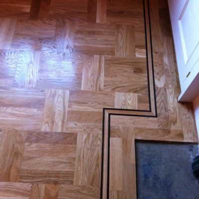 Wooden flooring with pattern
