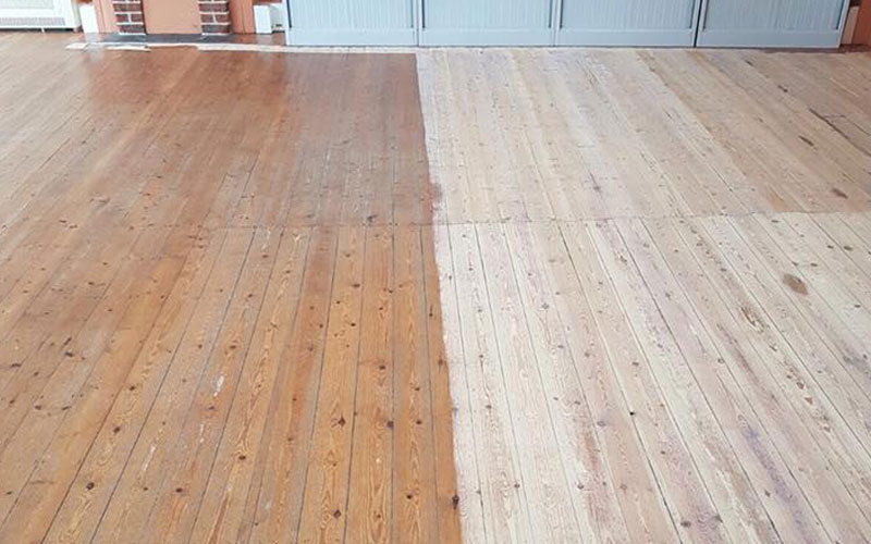 Sanded floor against non sanded floor